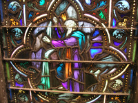 Moses strikes the rock in the Chancel Window