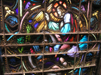 The conversion of St. Paul in the Chancel Window