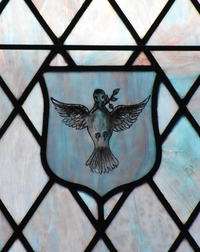 Dove with Olive Branch Shield