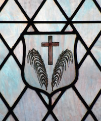 Cross and Palms Shield