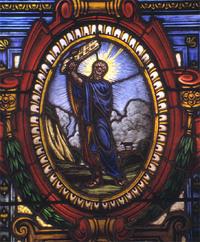 Moses Smashing Ten Commandments close-up