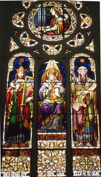 Music Window - St. Cecilia, King David, Pope Gregory, Jubal
