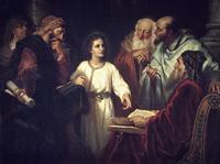 Jesus in the Temple by Heinrich Hofmann